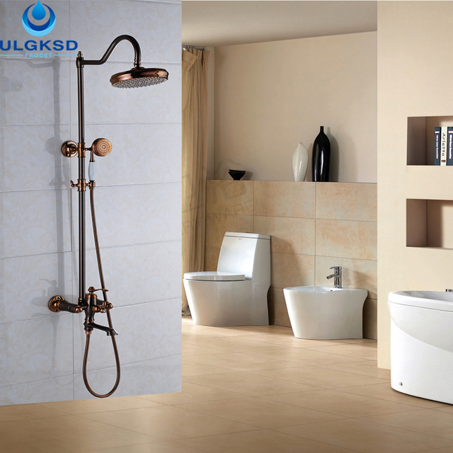 Ulgksd Whole And Retail Modern Design Bathroom Shower Head Hand Oil Rubbed Bronze Bath