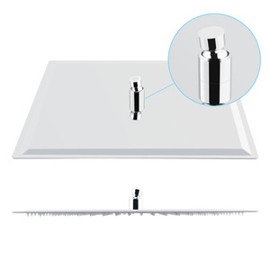 Image 4 - Square 16 inch Ultra Thin Stainless Steel Rainfall Bathroom Shower Head Chrome Modern Home