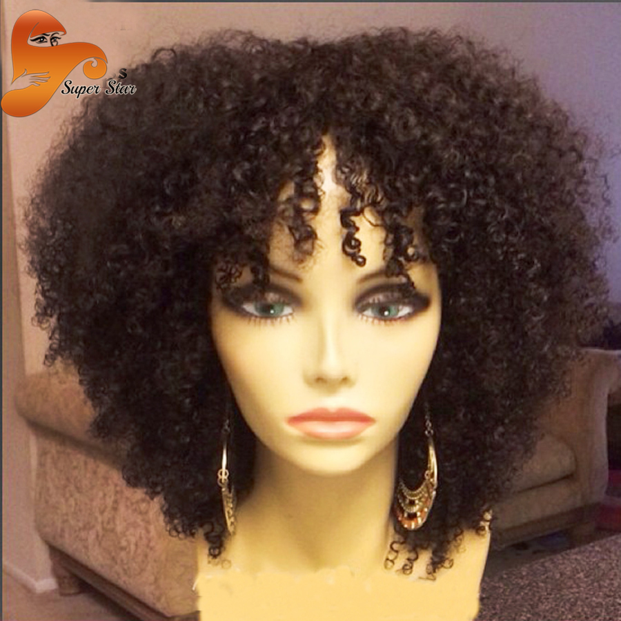 Best Brazilian Kinky Curly Full Lace Wig Glueless Full