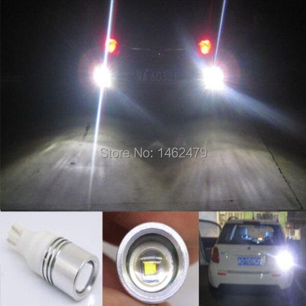 2x T15 T16  W16W 912 921  for CREE  Chips   Q5  High Power Led Car Super White Light Bulbs For Reverse Lights katur 2pcs t15 w16w led reverse light bulbs 920 921 912 canbus 4014 45smd highlight led backup parking light lamp bulbs dc12v