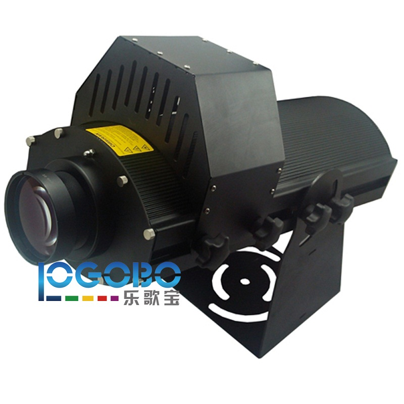 Professional 300W LED Image Projector Black Commercial Logo Spotlight Project Safety and Navigation Signs on Buildings, Rocks