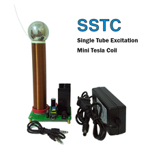 Mini Tesla Coil Plasma Speaker Arc loudspeaker music tesla coil Wireless Transmission Test SSTC