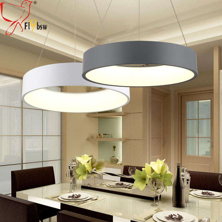 Modern round led Pendant Lighting for dining living room dia 45cm 60cm iron lampshade Suspension Luminaire