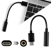 Mini Portable Type-C to 3.5mm Earphone Cable Adapter USB 3.1