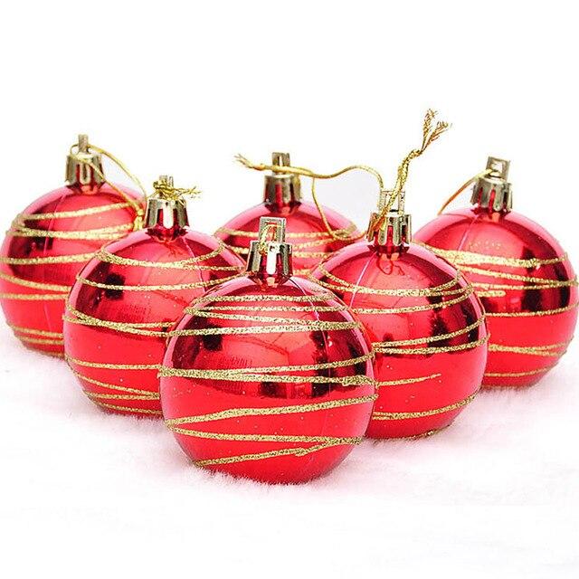 18pcs 3colors lot 4 cm modern christmas tree ball ornament hanging christmas ornaments wedding banquet - Modern Christmas Ornaments