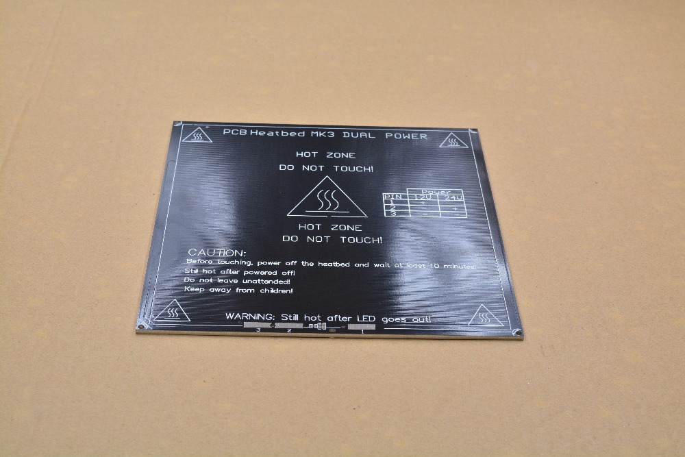 3d printer heat bed MK3 heating bed aluminum plate black 214mmx214mmx3mm 1pcs
