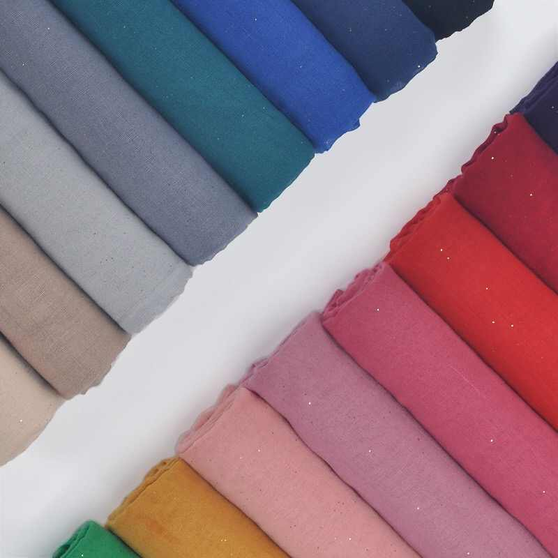 Wanita Fashion Kepala Syal Katun Selendang Warna Solid Arab Muslim Jilbab Membungkus Syal 180X90 Cm 2019 Baru Musim Semi summmer