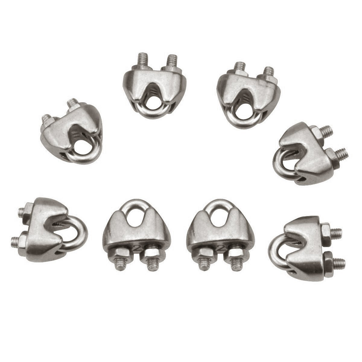 Wire Rope Clips M2 Stainless Steel Cable Clamp Saddle Fastener for ...
