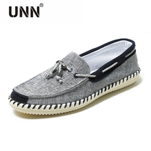 Elegant Classic Men Shoe Red Jeans Denim Lace-Up Simple Comfort Leisure Moccasin Light Weight Male Flat HipHop Fats  Soft Fabric