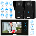 KKmoon 7 Inch Monitor Color Video Door Phone Intercom System 1000TVL HD Night Vision Waterproof Camera 8GB TF Card Video Record