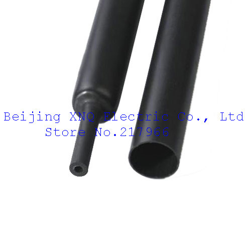 Quadruple Double Wall Heat Shrinkable Tube 20mm Black Inner Tube 4 Times Shrink Waterproof Adhesive