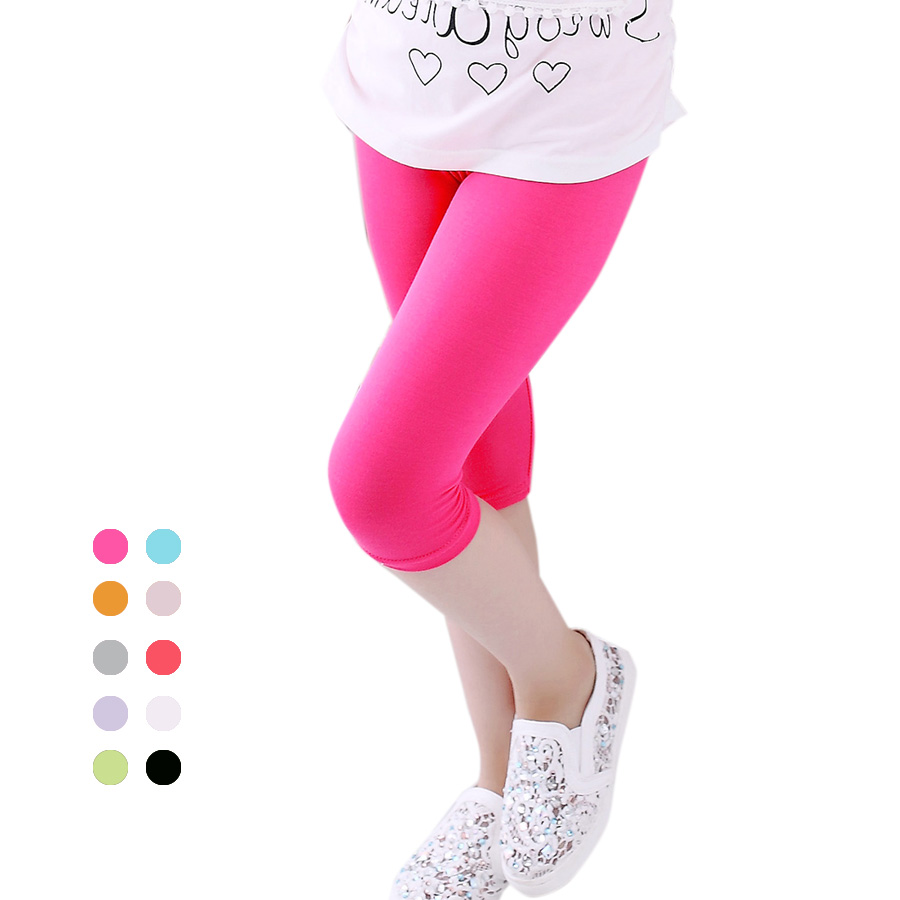 SheeCute New Arrive sommar barn kalv leggings girlsprincess byxor barnbyxor