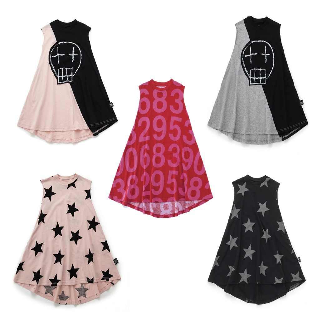 a67a52b9fa Nununu 2019 Summer Girls Dresses Kids Skull Star Tulle Dress Toddler Girls  Numbered 360 Princess Dress