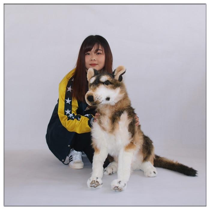 2016 New 100cm New Emulatinal Animal Sled Dog Toy Plush Soft Giant