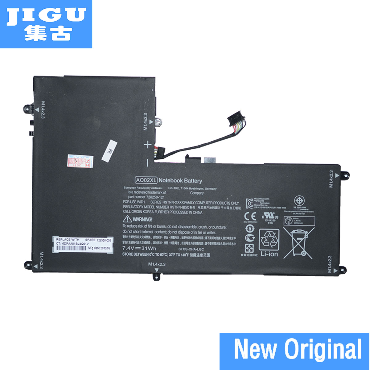 JIGU D'origine AO02XL Tablet Batterie Pour HP Pour ElitePad 1000 G2 Tablet HSTNN-LB5O HSTNN-C75C HSTNN-IB5Q 728558-005 728250- 421