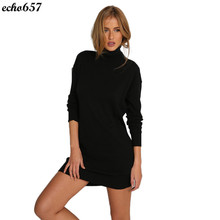 Neue Ankunft Frauen Kleid Echo657 Heißer Verkauf Mode Frauen Lange Hülsen Bodycon Mini Kurzes Kleid Dezember 13