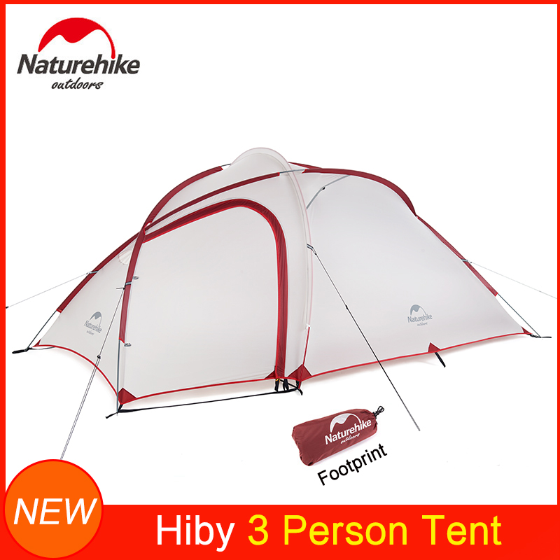 Naturehike New Upgraded Hiby Ultralight Tent for 2/3/4 Persons Outdoor Camping Travel Waterproof 20D Nylon Fabric Aluminum Rod Tents     - title=