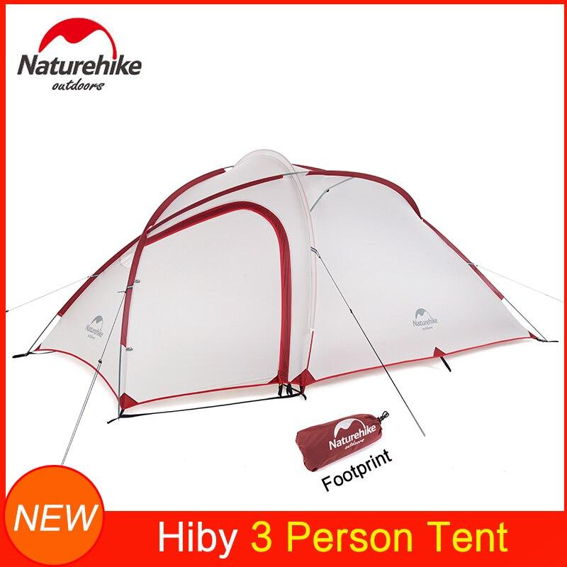 Naturehike nueva tienda híby ultraligera mejorada para 2/3/4 personas Camping al aire libre viaje impermeable tela de Nylon 20D barra de aluminio