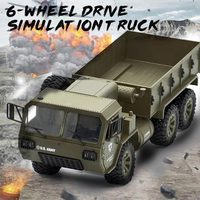 RC Military Trucks RC Six Wheel Truck Relax Decor Funny Cool Hobby Collection Durable Army Green Outdoors Cultivate Interest