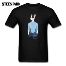 Mens Tee Shirts Skinhead Bull Terrier Adult O Neck Short Sle