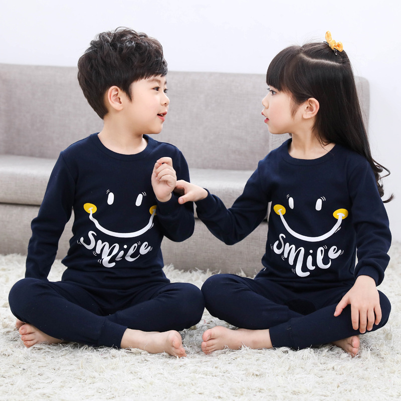 Winter Kids Pajamas Sleepwear Big Boys Girls Pajamas Sets 100-150cm Kids Clothes Nightwear Homewear Toddler Clothes Garcon Suits(China)