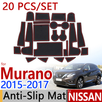 For Nissan Murano Z52 MK3 2015 2016 2017 Anti Slip Rubber Cup Cushion Door Mat 20Pcs