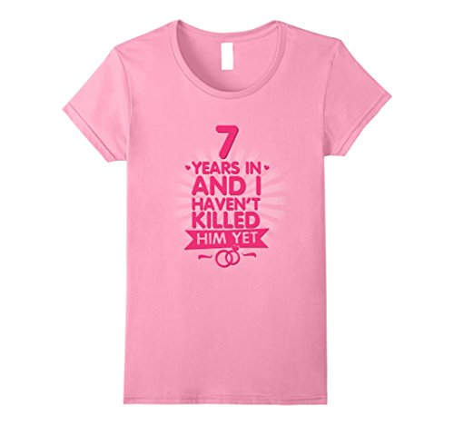 Regalo Anniversario Matrimonio 7 Anni.7 Anni Di Matrimonio T Shirt 7th Regalo Di Anniversario Per La