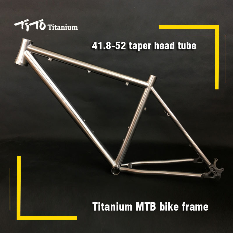 FREE SHIPPING !!! TiTo titanium mountain bike MTB frame 650B 26`` 27.5`` 41.8-52 head tube bicycle free shipping tito titanium mountain bike mtb frame 26 27 5 29er simi circle a tail hook 34 head tube