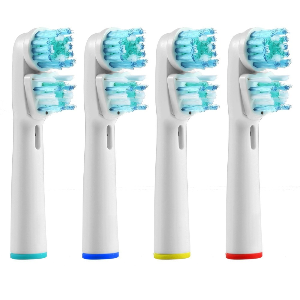 4PCS Replacement Brush Head for Oralb Braun Dual Clean Electric Toothbrush Heads Generic Brushes Compatible With Oral-b Triumph 4pcs generic deep sweep toothbrush heads for oral b electric toothbrush heads innovative cleaning compatible with most brush