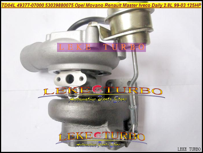 Free Ship Turbo TD04L 49377-07000 53039700075 53039880034 75 454126 For IVECO Daily For Movano Master 99-03 8140.43S.4000 2.8L  цены