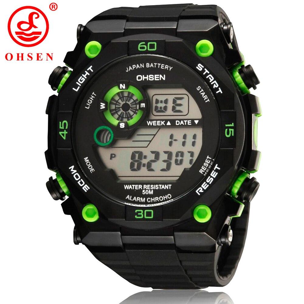Hot Sale OHSEN Brand LED Digital Watch Men 50M Swim Sports Watches Date Day Alarm Fashion