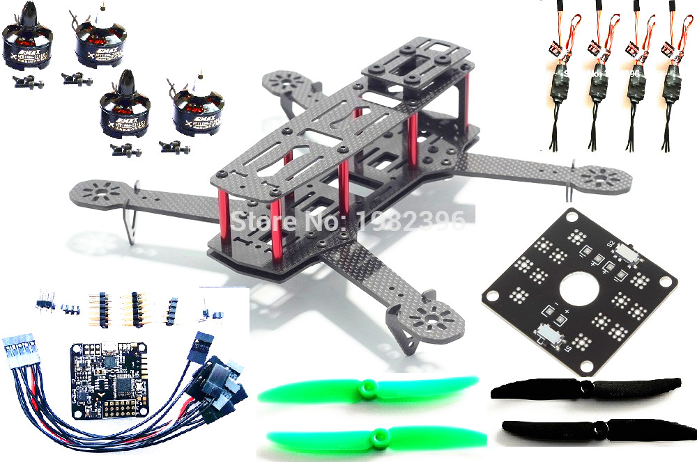 FPV 250 mini DIY ZMR250 Quadcopter Carbon Fiber frame set NAZE32 MT1806 2280KV 2204 2300kv Motor