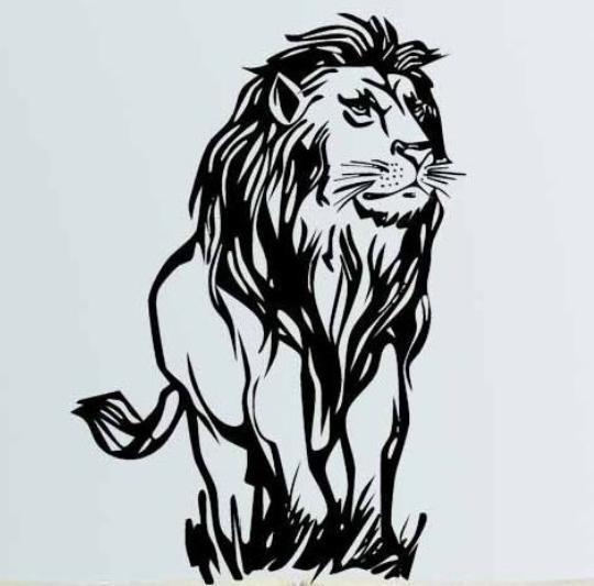 african lion wall sticker lion africa zoo animal pvc wall art
