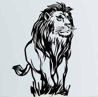 African Lion Wall Sticker Lion Africa Zoo Animal PVC Wall Art Sticker African Animal Kids Bedroom Home Decorative Decoration