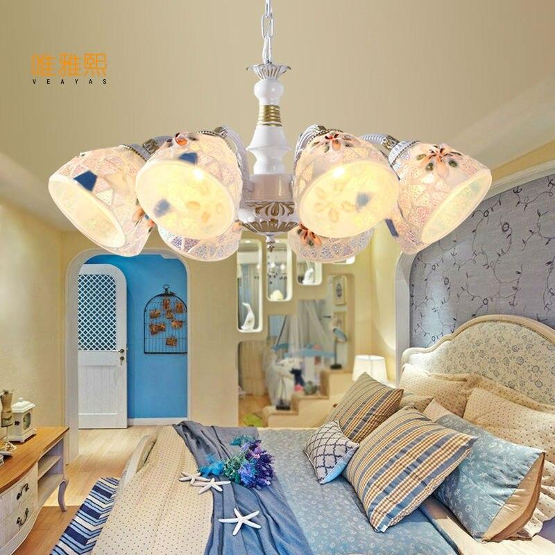 Lustre, lampe à LED lumineux rétro de Style européen, lustres pour chambre à coucher, salon Ro