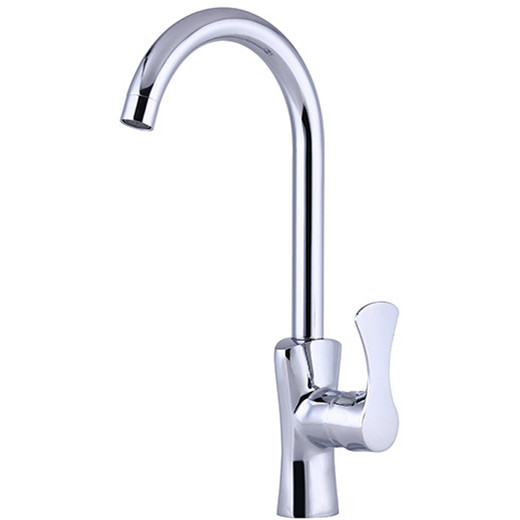 Free shipping Promotion kitchen sink faucet with high quality brass kitchen sink water mixer tap single