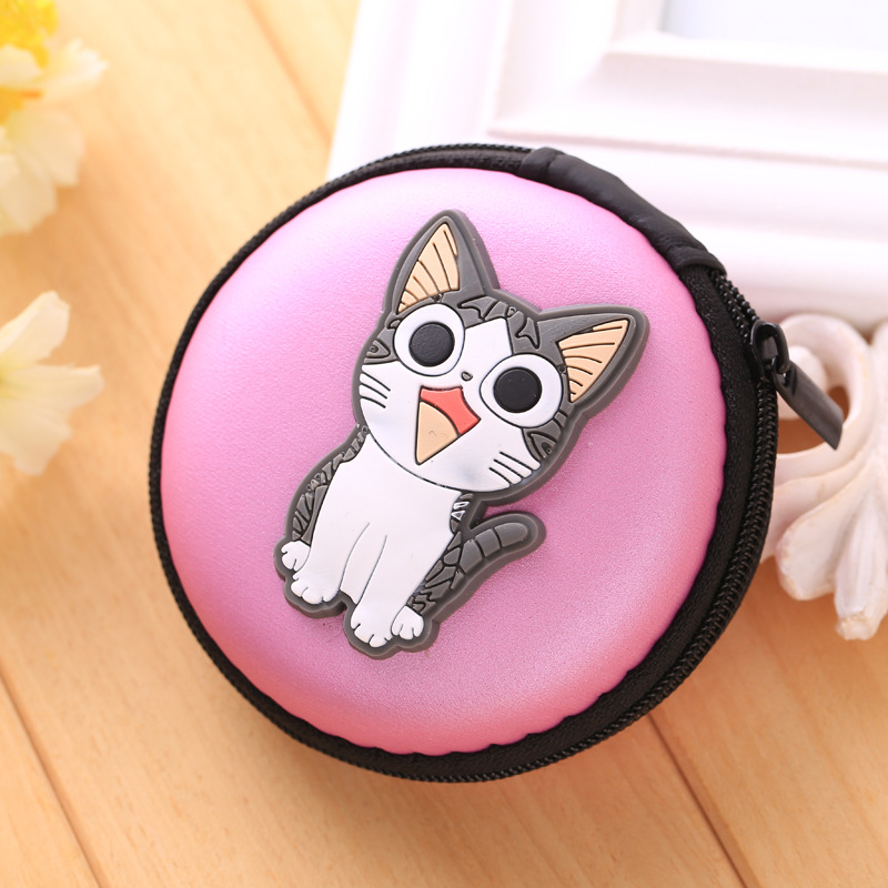 Novelty Cat Silicone Coin Purse Mini Zipper Round Bags bolsas Headphone Holder Wallets Gift Men Women Storage Key Coin Wallet fashion coin purse wallets mini bag league creative personality canvas bags cartoon storage bags for cardholder in ear headphone