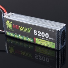 1pcs Lion Power 3S Lipo Battery 11.1v 5200mAh 35C Battery for RC helicopter RC car RC boat quadcopter register shipping