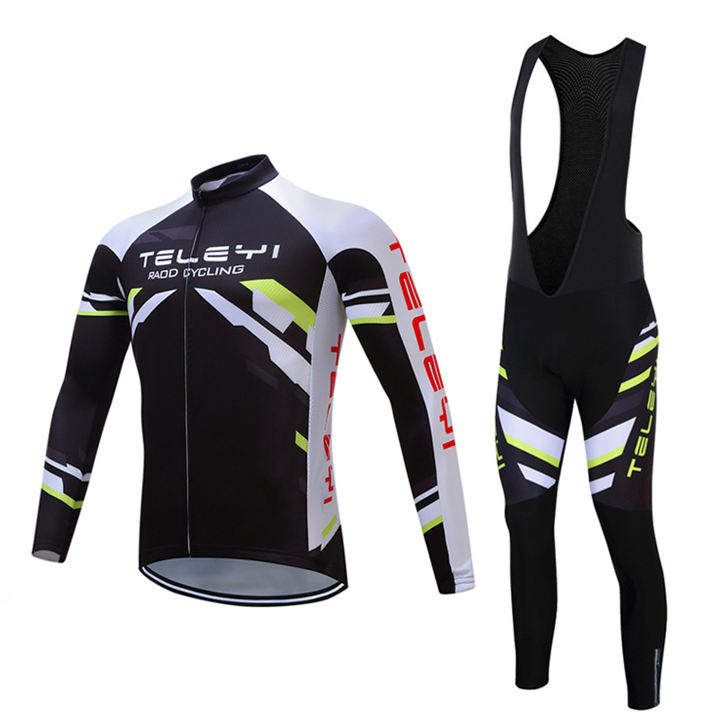 Spring/Autumn Men's Cycling Jersey Long Sleeve Bike Uniform Wear Bicycle Clothing Sets Male Cycle Clothes Sport Mallot Equipment male team cycling jerseys autumn cycling clothes long sleeve bike jersey winter fleece bicycle riding suits free shipping