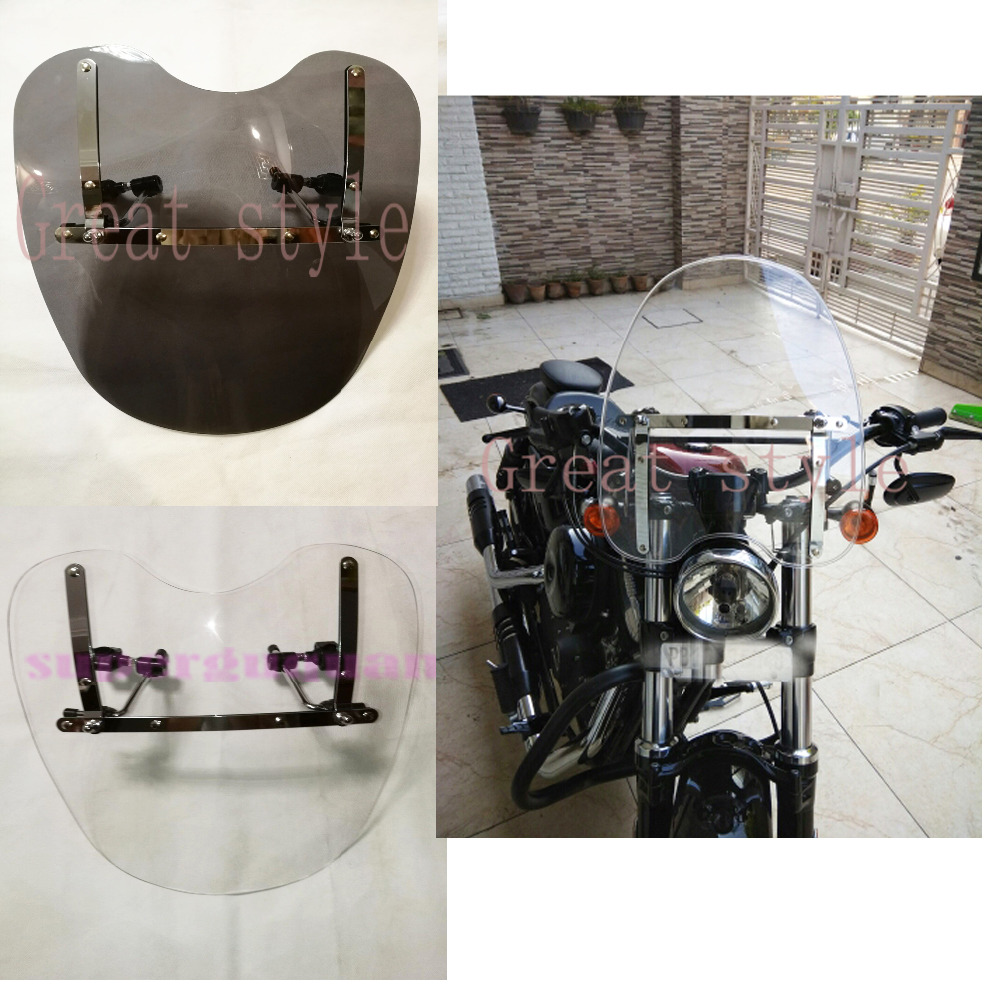 New Motorcycle Windshield Windscreen For Yamaha Royal Road Star S Roadliner Bolt XVS950 With 7 8