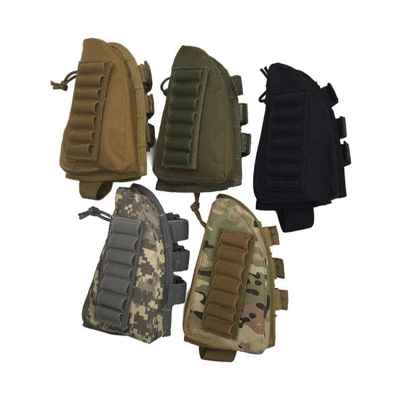 Tactical Rifle Shotgun Buttstock Cheek Rest Rifle Stock Ammo Shell Nylon Magazine Molle Pouch Holder