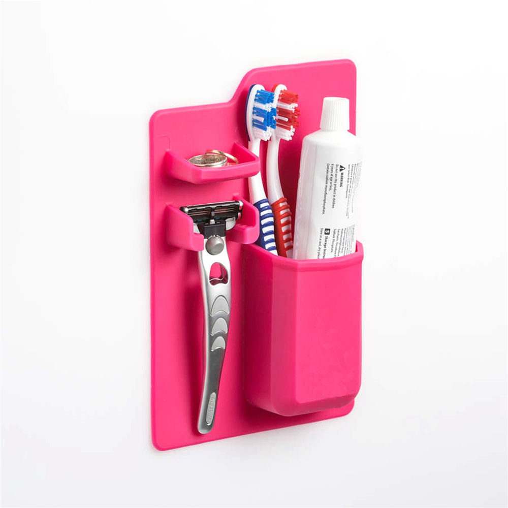 Toothbrush Holder travel silicone case box Bathroom wall Organizer Storage tooth brush accessories kids personal care appliances