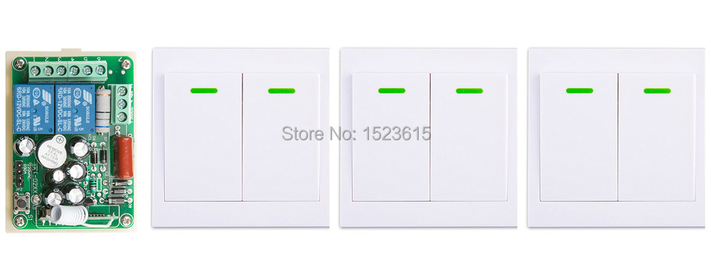 New AC220V 2CH Wireless Remote Control Switch System Receiver + 3*Wall Panel Remote Transmitter Sticky Remote Smart Home Switch ac 220 v 1ch wireless remote control switch system receiver wall panel remote transmitter sticky remote smart home switch
