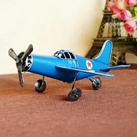 Hand Metal Airplane Model Airplane Model World War II Vintage Ornaments