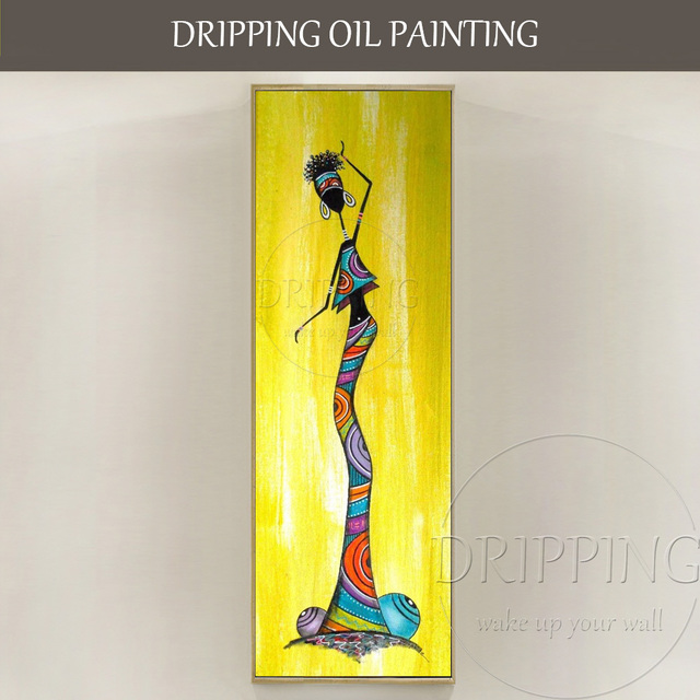 Unique Wall Art Pictures Artist Hand painted Long Size Vertical ...