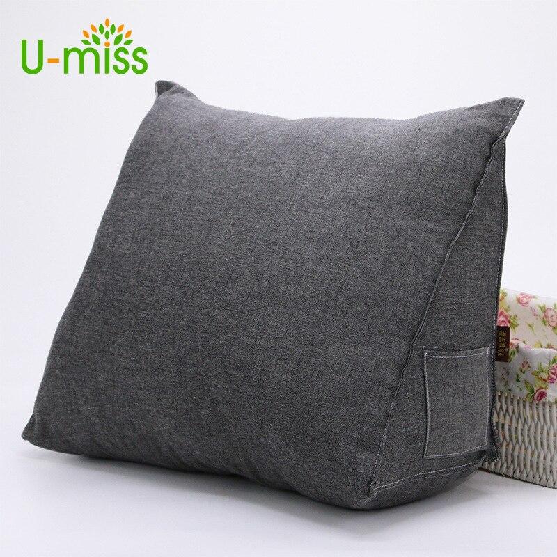 U-Miss Wedge Hoge Elastische Katoen Kussen Bed Rugleuning Driehoekige - Thuis textiel