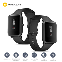 Original Huami AMAZFIT Bip Smartwatch International Version GPS GLONASS IP68 Waterproof 45 Days Standby Sport Heart Rate Monitor xiaomi huami amazfit bip smart watch english version lite ip68 gps heart rate mijia smartwatch for smartphone android tablet