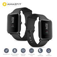 Oryginalny AMAZFIT Bip Smartwatch wersja międzynarodowa 2.5D Corning szkło gorilla ekran geomagnetyczny czujnik dla iOS Android