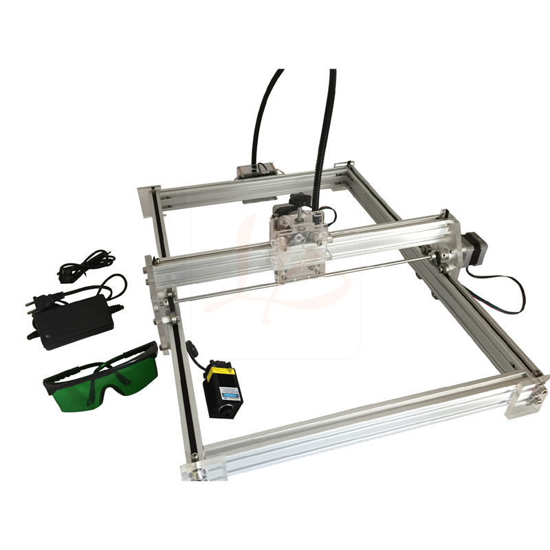 Mini cnc engraving marking machine work area 35x50cm with laser height adjustable