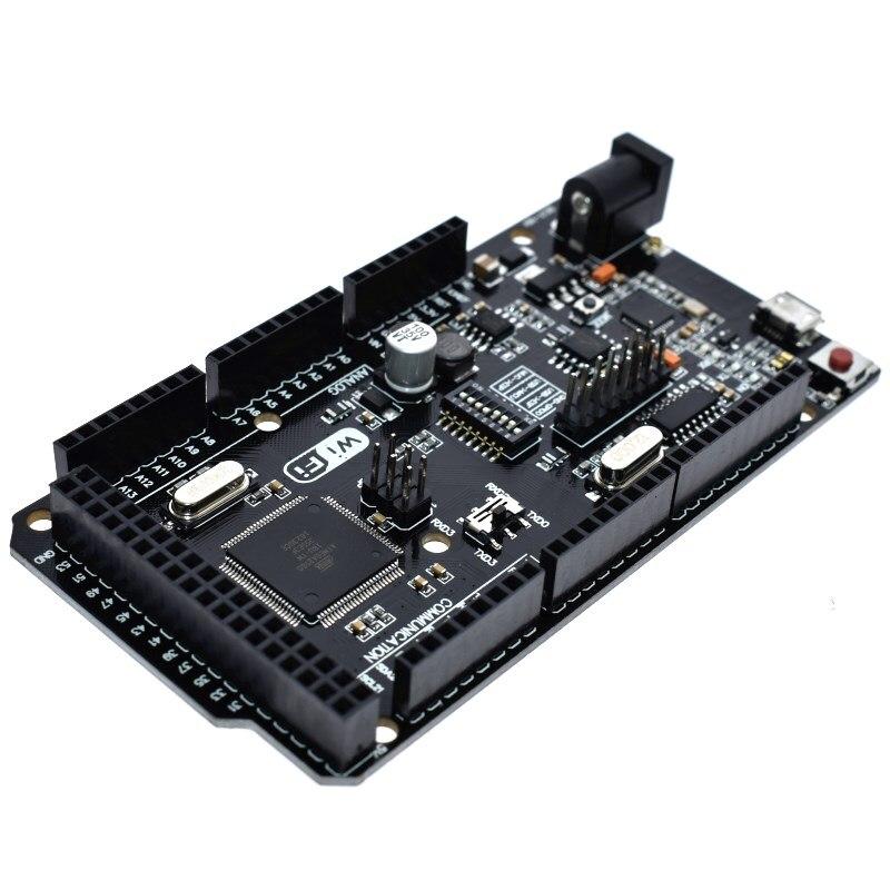 Mega2560 + WiFi R3 CH340G USB-TTL ATmega2560 + ESP8266 32Mb de memória. Compatível com Arduino Mega NodeMCU Para WeMos ESP8266